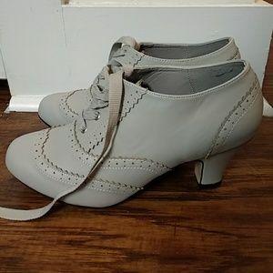 Gray Vintage Inspired Heels